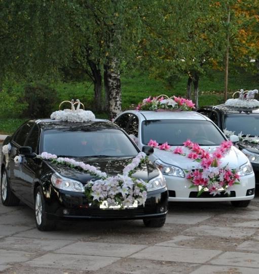 Комплекты украшений на свадебную машину