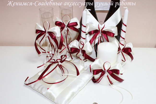 a47ca1e56552 Набор свадебных аксессуаров