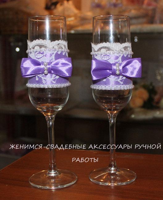 свадьбу работа фото на бокалы ручная